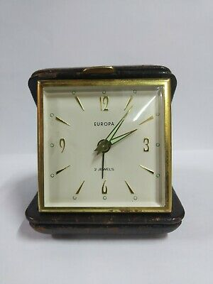 """Vintage 60´s """"Europa"""" Travel Alarm Clock """"Made in Germany"""" - Working Perfectly!"""