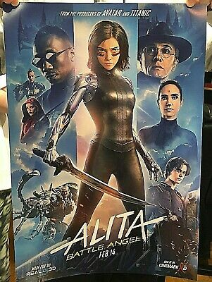ALITA: BATTLE ANGEL Real 3D Promo Poster Original Movie Cinemark Not a Repro!