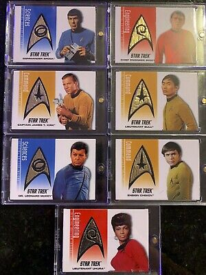 Star Trek 40th Anniversary Delta Shield Patch Card Set DS1-DS7 (all same number)