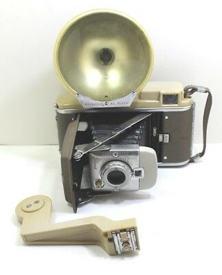 Vintage Polaroid Land Camera Model # 80A With Flash and Extension Arm