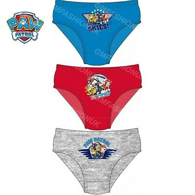 Paw Patrol Boys 3 Pack Character Underwear Hipster Briefs Pants Knickers Age 2-5