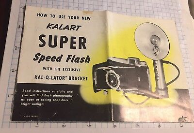 How To Use Your New Kalart Super Speed Flash instruction booklet