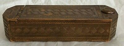 Antique Decorative Inticately Wood-Carved Box (Possibly Asian)