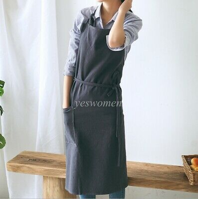 Long Apron Japanese Casual Craft Cooking House Shop Coffee Workwear Bbq Power Source