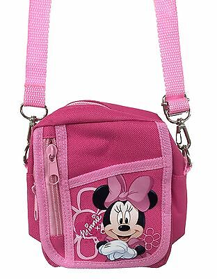 Disney Minnie Mouse Pink Camera Pouch Bag Wallet Purse with Shoulder Strap