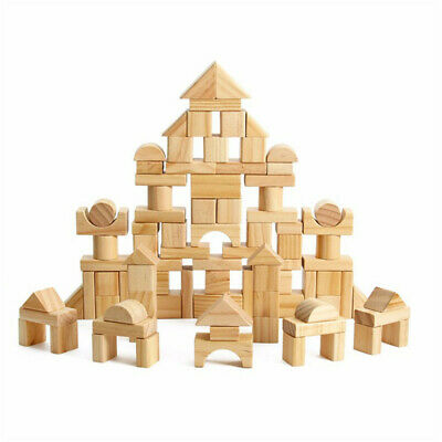 Kids Wooden Building Blocks Toys Set Toy Wood Block Early Educational Child LH