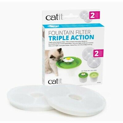 Catit Flower Fountain Replacement Filter Cartridges Water Drinking Triple Action