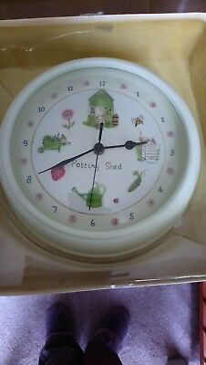 Ceramic Potting Shed Wall Clock Never Used Still in Box Unwanted Gift
