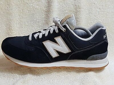wholesale dealer f4458 aab12 NEW BALANCE 574 mens trainers Leather Black/White UK 11 EU 45.5