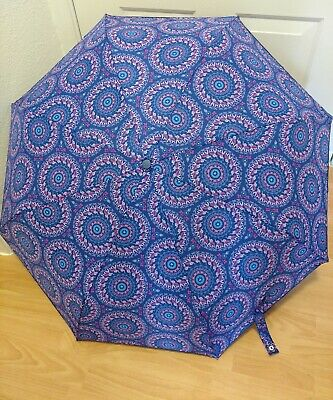 33f8be6b88 VERA BRADLEY Umbrella ELLIE MEDALLIONS 14950-I43 Auto Cover Blue   Purple  NWOT