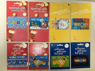 Toys R US Gift Card Collectible Memorabilia Lot of 8 Different - Christmas Etc.