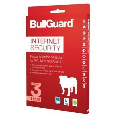 Bullguard Internet Security 2019 - 3 Device 1 Year License - Latest Version