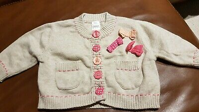 Romany Next 0-3 Months Bow Cardigan Baby Girl