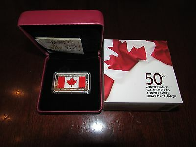 Canada 2015 $50 50th Anniversary of Canadian Flag Silver coin
