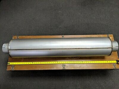 """Commercial Semi Truck Muffler 9"""" PAI# EEM-1791 5""""X5""""X9"""" ROUND 5"""" Inlet 5"""" Outlet"""