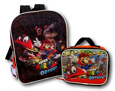 89e6b18cd8 SUPER MARIO SCHOOL Backpack Lunch Box Book Bag Combo SET -  19.99 ...
