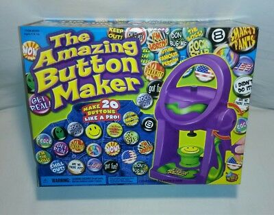 ☆ New The Amazing Button Maker #6368~ Badge Maker ~ With Everything You Need F/s
