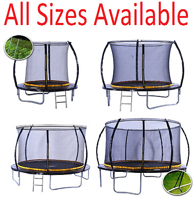 kanga 6ft / 8ft /12ft Premium Trampoline with Safety Enclosure, Net, Ladder and