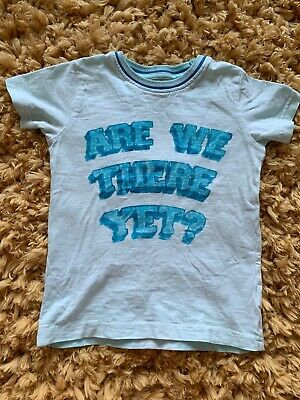 Nexy Boys Light Blue Summer Tshirt Are We There Yet Age 18-24 Months