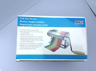 Craft Clay Rolling Machine Manual Press Art Project Tool Metal Table Clamp