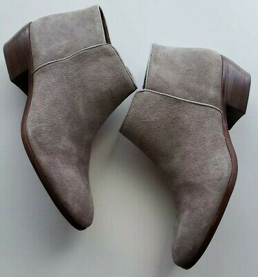 8bd659224f86 SAM EDELMAN ANKLE Booties Petty Leather Suede Women Size 9M Moss ...