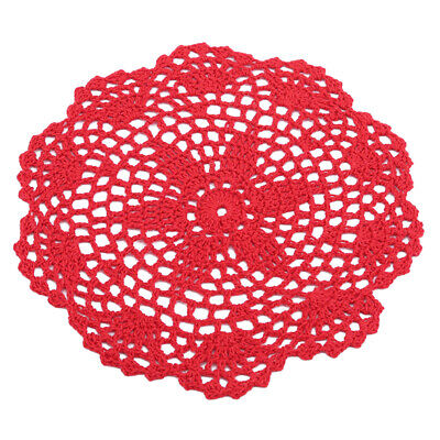 New Round White Hand Crochet Table Topper Mat Tablecloth Vintage Lace N7
