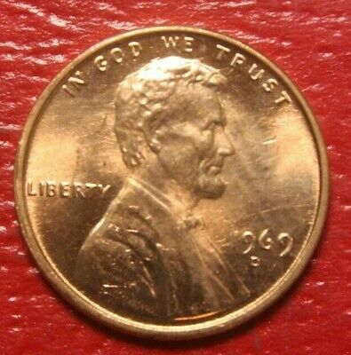 1969-D Lincoln Memorial Cent Penny , GEM BU Red , US Coin , Free Shipping!