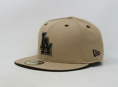New Era 59Fifty Hat Mens MLB Los Angeles Dodgers Camel Brown 5950 Fitted Cap
