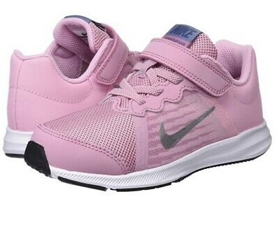 Nike Downshifted Girls Pink & Silver Trainers Size 2