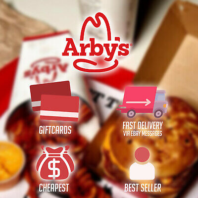 Arbys $50 Gift Card | Best deal | Cheapest | Fast shipping