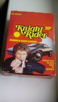 KNIGHT RIDER Trading Card Box donruss 1980's (36 sealed packs) full box