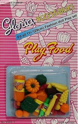 Gloria Accessories Barbie Size Dollhouse Furniture Fruits Vegetables Play Set
