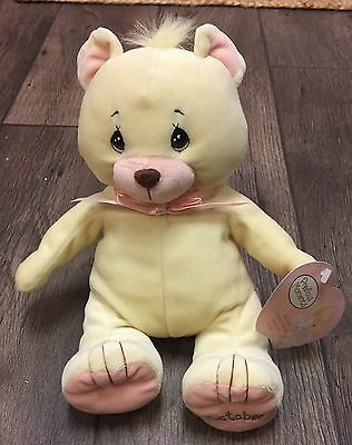 PRECIOUS MOMENTS 2003 PLUSH BIRTHDAY TEDDY BEAR October Yellow
