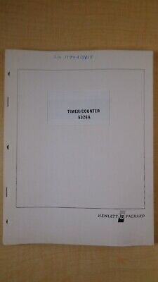HP Timer/Counter 5326A Temporary Operating and Service Manual OEM 7E B2