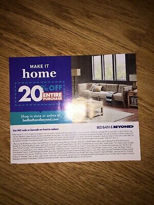 Bed Bath & Beyond 20% Off Coupon
