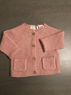 Zara Baby Girls Knitted Cardigan 3-6 Months Brand New With Tags