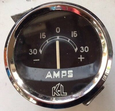 2 Inch KL 30/30 Classic Car Ammeter In Good Working Order
