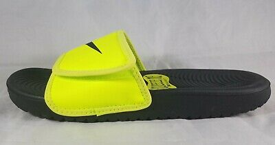 85e0baf3b643 NIKE BOYS  KAWA Adjust (GS PS) Slide Racer Black  White (819344 001 ...