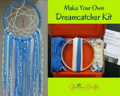 DIY Dreamcatcher Kit, Blue, Boho, Bohemian, Birthday, Christmas, Gift