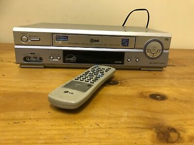 Video Cassette Player Lg 6 Head Hi Fi Tape Remote Tv Television