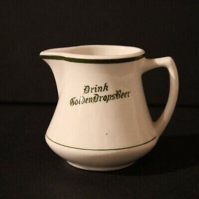 Golden Drops Beer Creamer Pitcher - Two Rivers WI