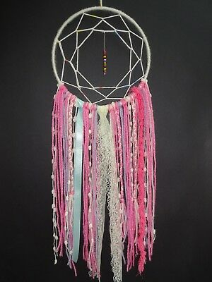 DIY Dream Catcher for Craft Lover, Pink, Wall Hanging, Birthday, Gift