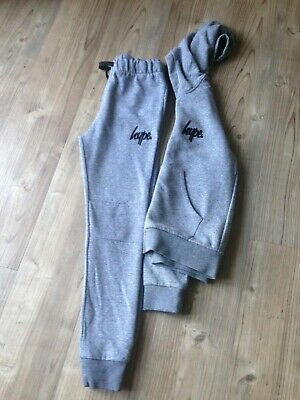 Boys Grey Hype Tracksuit (age 11-12)