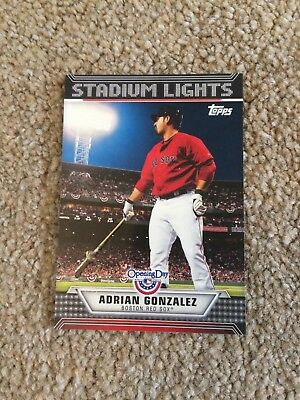 +++ Adrian Gonzalez 2011 Topps Od Sl Baseball Card #ul8 - Boston Red Sox +++