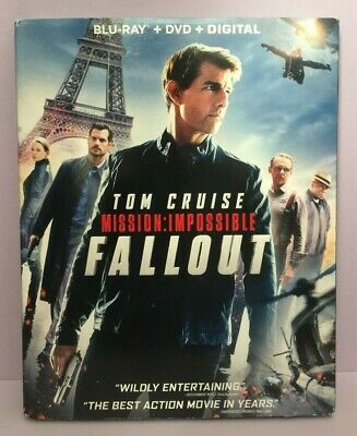 Mission: Impossible Fallout (Blu-ray, DVD, Digital) W/ Slipcover - Free Ship