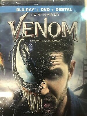 VENOM  (Blu-ray + DVD + Digital HD)  SLIPCOVER BRAND NEW