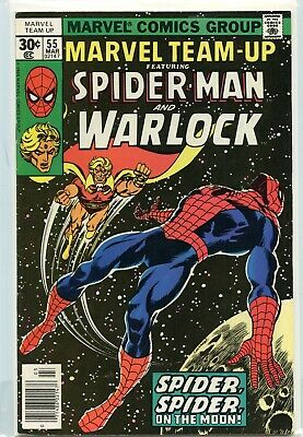 Marvel Team-Up  # 55  VF +++ Spiderman & Warlock ,1st Power and Time stones app