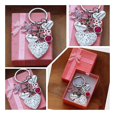 Personalised Birthday Gift keyring mum Daughter Sister 18th 21st  30th 40th 60th