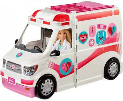 Care Clinic 2-in-1 Fun Playset for Ages 3Y+ Kids Playroom Barbie Toy Van Fun