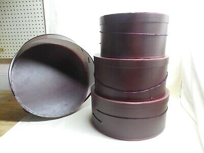 Antique Set of 4 1800's Nested Hat Boxes
